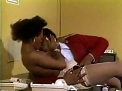 SEXY ASS EBONY FUCKED IN PANTYHOSE STOCKINGS NYLONS AT WORK VINTAGE