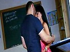 Dark haired french teche saxe xxx banged with cum 2 mouth at school
