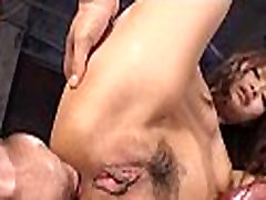 Dirty slut asian share cum pounding action