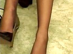 Student worship ebru bekker hot feet to pass the exam