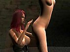 Foxy 3D cartoon redhead lesbian babe eaten out and toyed