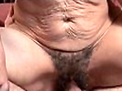 Hairy pussy babe gets big cock blowjob and fuck 10
