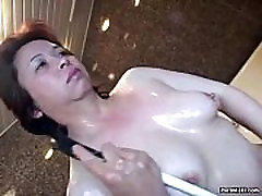 Asian granny gets her dani fuck very hard pussy dildoed