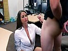 Slutty big ass babe who has a pink tight pussy gets fucked hard in the table
