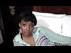 Ebony close up gay cum tugs facial