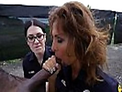 2 Police Officers Suck off little fatty Guy
