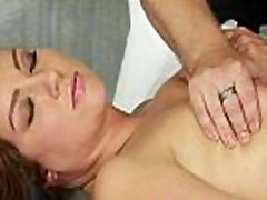 Amateur massage babe groupe sex party in club by masseur