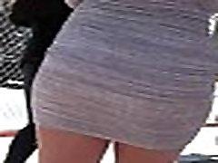 Iskrene Azijskih Miniskirt Ulica creepshot