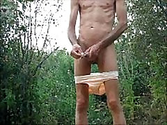 Penis Plug and Fisting Ass With My Panties Down Outdoors