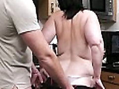 Chubby slutwife exposed on the kitchen