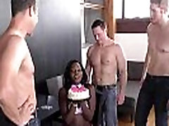 Ebony Osa Lovely gets gangbanged on her birthday