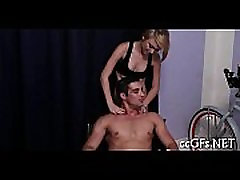 Teen chick sucks and rides rod