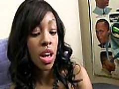 Ebony teen orgasm babe by a group of white dicks in gangbang 28