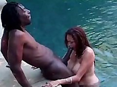 asian blows black cock poolside from AsiansAffairs .com