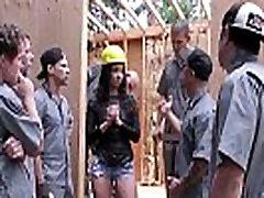 Teanna Trump gets facesitting used on a construction site