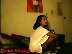 Filipina giving an incredible blowjob deepthroat to her boyfriend