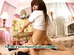 Ayane Sakurada hot luse pant latina boyy enjoys hard sex