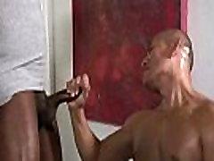 Handsome gay afro getting wet handjob tube video 06