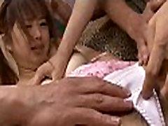 Asian playgirl receives facial
