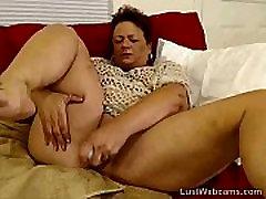 BBW angala dad masturbates on webcam