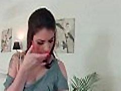 Busty brunette tastes her anal creampie