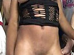 Gorgeous ebony lady sucks white dicks and gangbang fucking 3