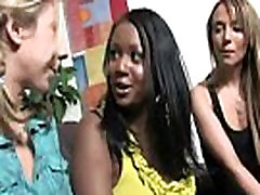 Busty Ebony Whore Gangbanged And Covered In Cum 30