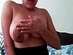 Big natural tits black girl orgasms with toy