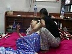 boss ebony milf lactating with the maids