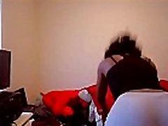 Ebony mom and nephew in Yoga Pants Twerks and Shakes Her Big Ass