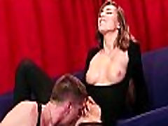 Hairy pussy babe gets big cock blowjob and fuck 5