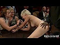 Hot nice-looking girl ass fucked