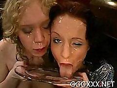 Joyful intake of facial cumshots