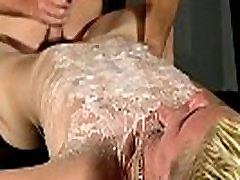 Young gay foot domination Splashed With Wax And Cum