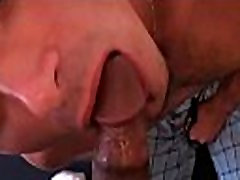 Huge dick bonks head of a gay