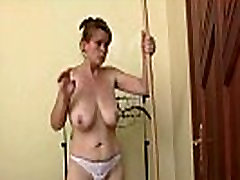 Old mature apple juice amateur porn is lured into 3some