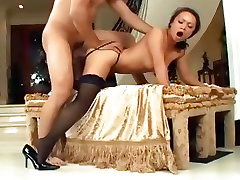 retro porn pix young tanned and fuckable fucked in seamed stockings and stilettos