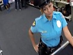 Latina cop posing for sexy pics in uniform