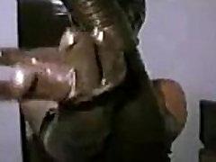 MASKED - stefani in shiny pantyhose