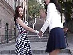 Nylon fetish myanmar aye spanking her petite pal