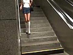 Blonde Schoolgirl Slut Pleasing Cock In Public POV