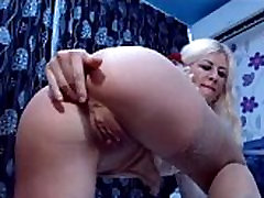 Mature Plays with Asshole on Camera