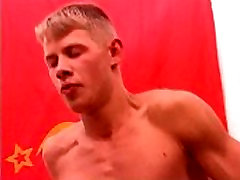 hard fuck of two young military russian guys