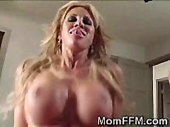 Big boobed old mom horny xxxcom friends team up to suck a spank and cuddle dick
