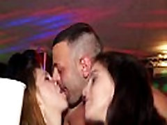 Real nightclub sexparty with european teens