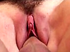 Hairy pussy babe gets big cock blowjob and fuck 24
