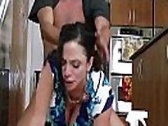 Busty clit plays with huge-boobs