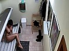 Short Haired Brunette Girl Spied in Private Solarium
