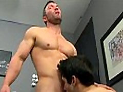 Gay boy tied up He gets on his knees and deep-throats Brock&039s