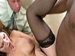Watching mom fuck a black guy 073